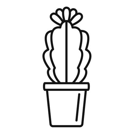 Indoor flower cactus icon, outline style