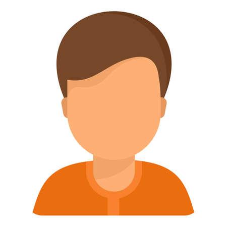 Man avatar icon, flat style 版權商用圖片
