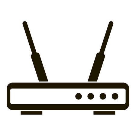 Wifi router icon, simple style