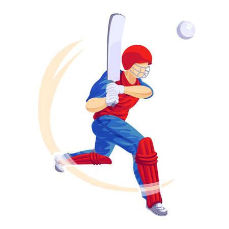Cricket player game icon, cartoon style 版權商用圖片