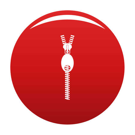 Oval zip icon red