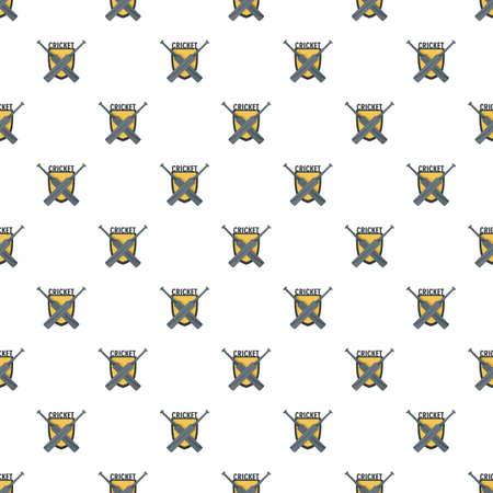 Cricket crossed bats pattern seamless