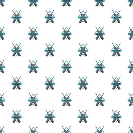 Crossed bats cricket pattern seamless