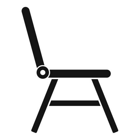 Folding plastic chair icon, simple style