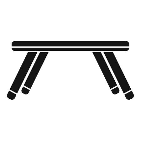 Folding kids table icon, simple style