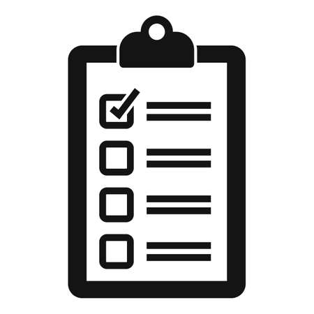 Recruiter to do list icon, simple style
