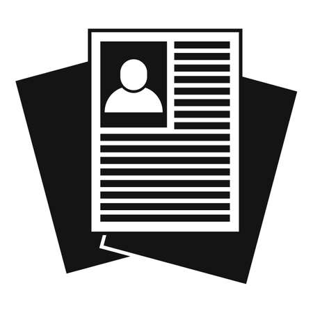 Recruiter paper documents icon, simple style