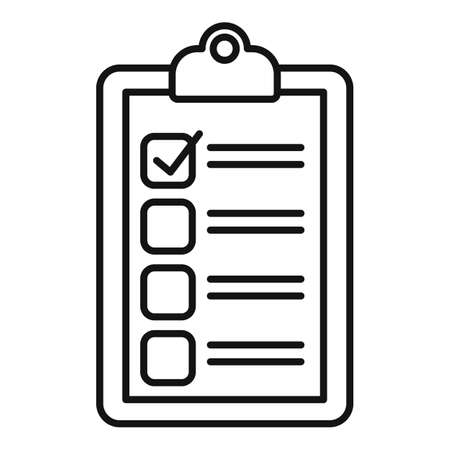 Recruiter do list icon, outline style