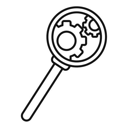 Search server bug icon, outline style