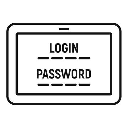 Web bank login icon, outline style