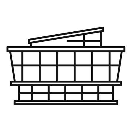 Mall icon, outline style Фото со стока