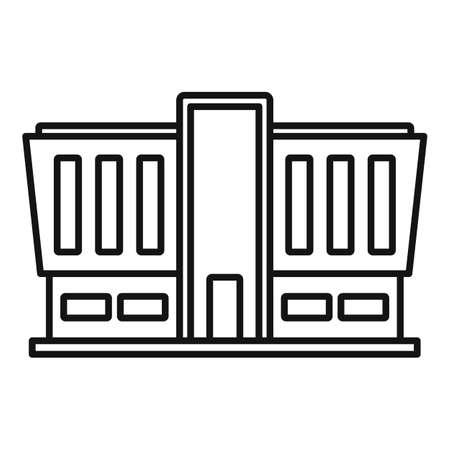 Mall building icon, outline style Фото со стока