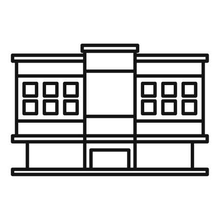 Shopping mall icon, outline style Фото со стока