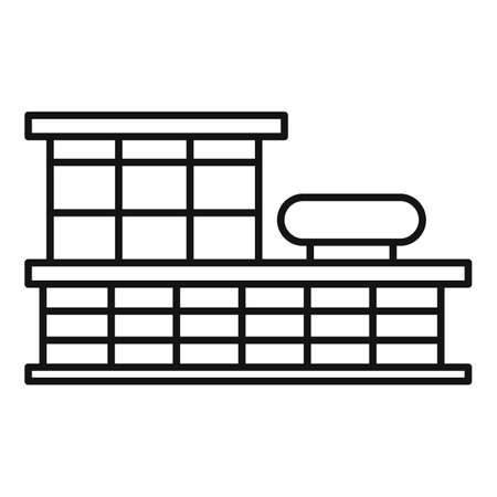 Storefront mall icon, outline style