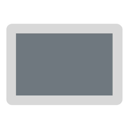 Tablet icon, flat style 스톡 콘텐츠