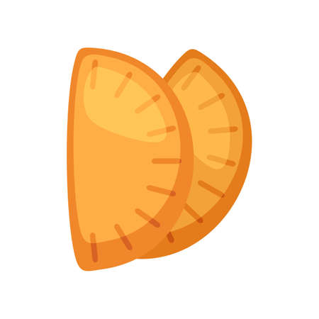 Mexican patty icon, flat style