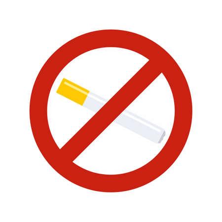 No smoking cigarette icon, flat style