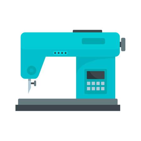 Digital sew machine icon, flat style