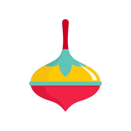 Colorful dreidel icon, flat style 版權商用圖片
