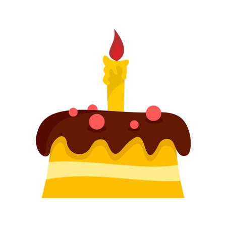 Small cake icon, flat style