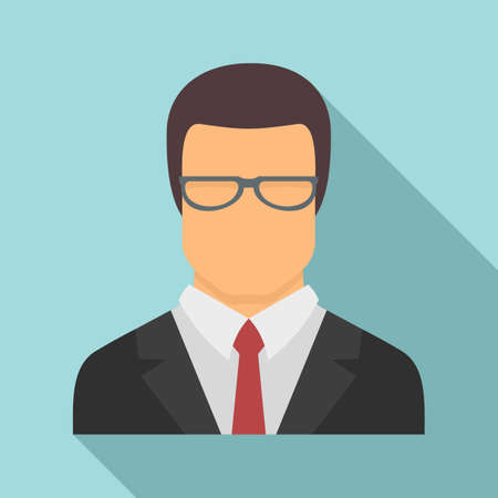 Jurist avatar icon, flat style Stock fotó