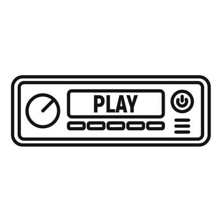 Fm radio car audio icon, outline style