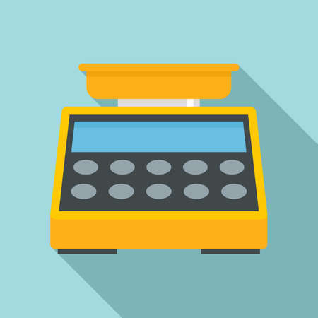 Digital button scales icon, flat style