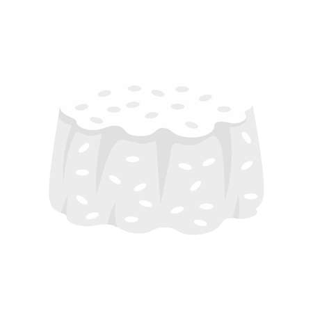 Rice cupcake icon, flat style