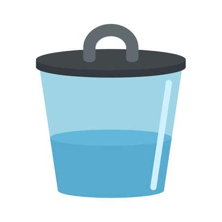 Water zika pot icon, flat style
