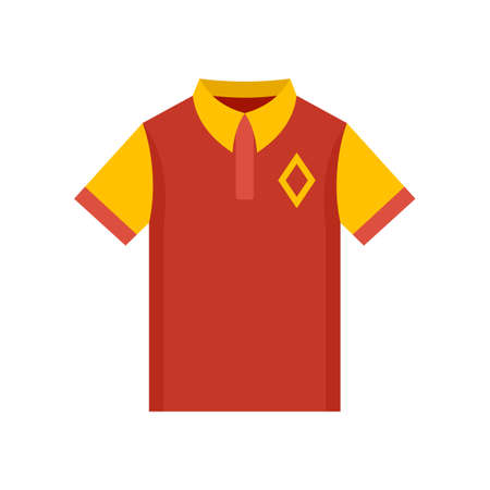 Baseball polo shirt icon, flat style Stock fotó