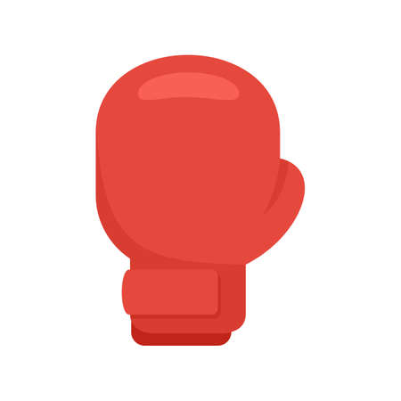 Boxing glove icon, flat style