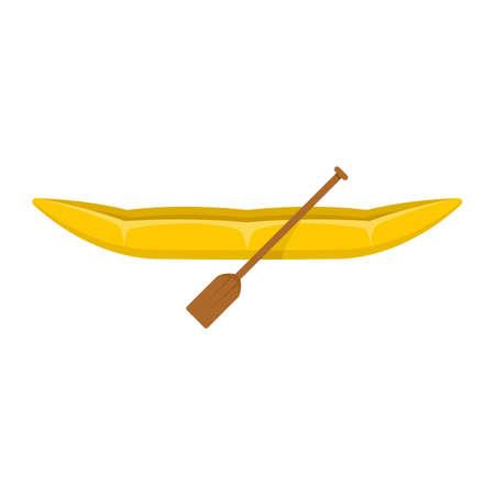 Canoe icon, flat style