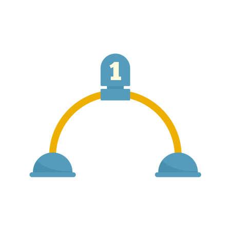 Croquet gate icon, flat style Foto de archivo