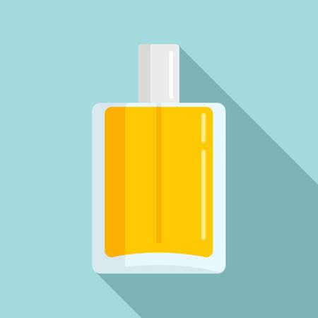 Duty free perfume bottle icon, flat style