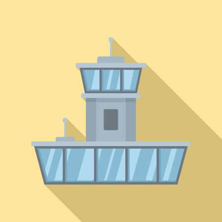 Airport icon, flat style Vectores