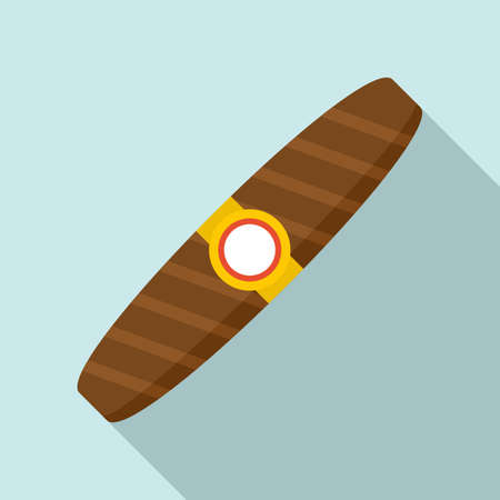Duty free cigar icon, flat style Vectores