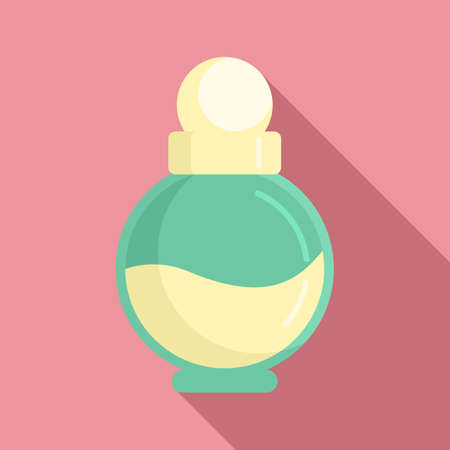 Duty free woman perfume icon, flat style