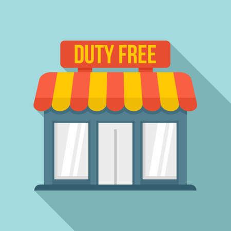 Duty free shop icon, flat style