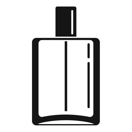 Duty free perfume bottle icon, simple style Vectores