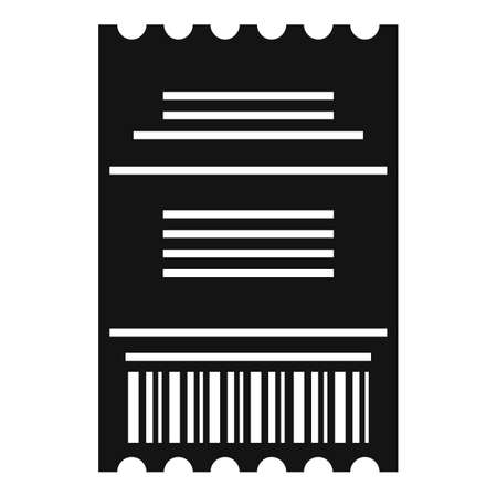 Duty free pay check icon, simple style