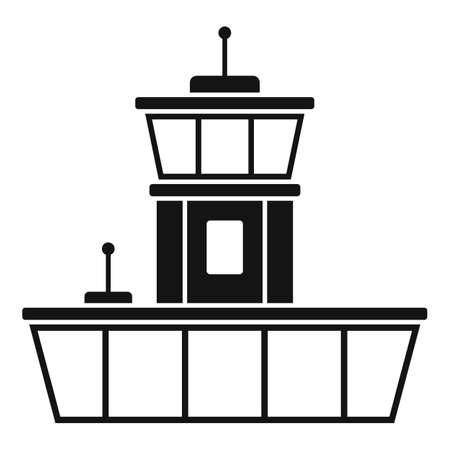 Airport icon, simple style