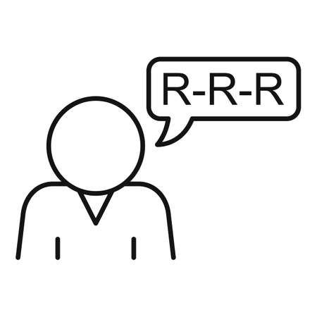 Mouth speech therapist icon, outline style Ilustração