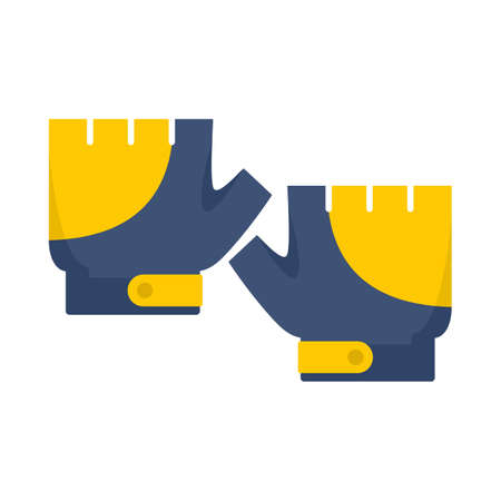 Bike gloves icon, flat style
