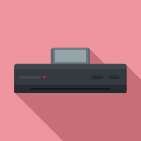 Video game console icon, flat style