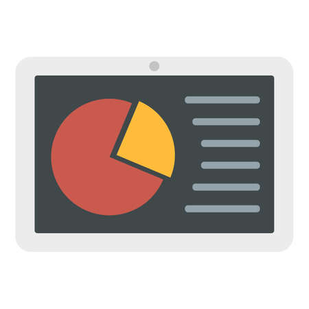 Business tablet icon, flat style