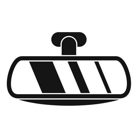 Car back mirror icon, simple style Stockfoto