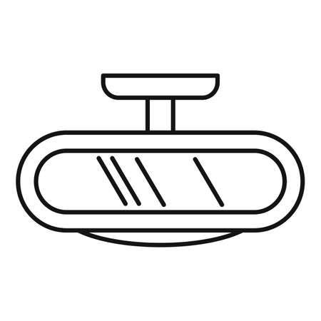 Car back mirror icon, outline style