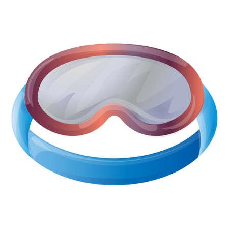 Ski glasses icon, cartoon style