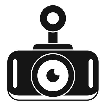 Modern car recorder icon, simple style