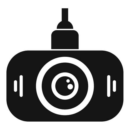 Led dvr camera icon, simple style